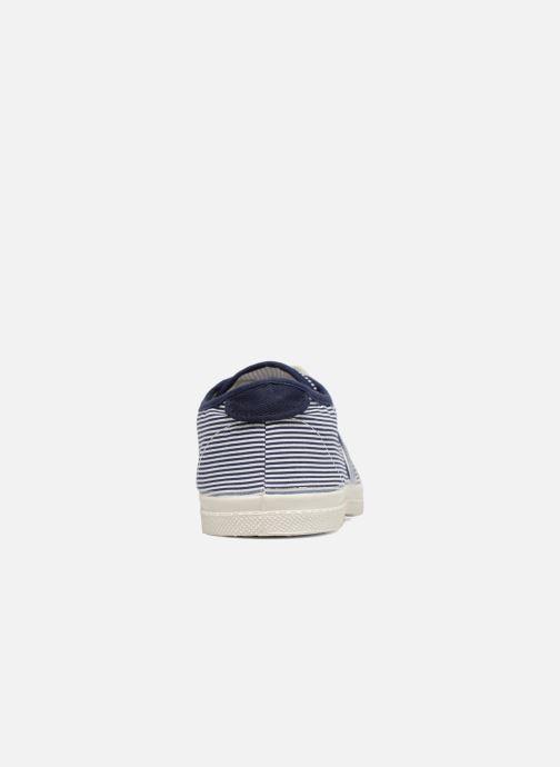 Sneakers Bensimon Fines Rayures Blauw rechts