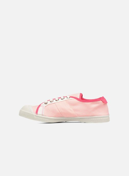 Sneakers Bensimon Fines Rayures Rosa immagine frontale