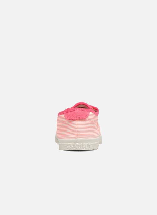 Trainers Bensimon Fines Rayures Pink view from the right