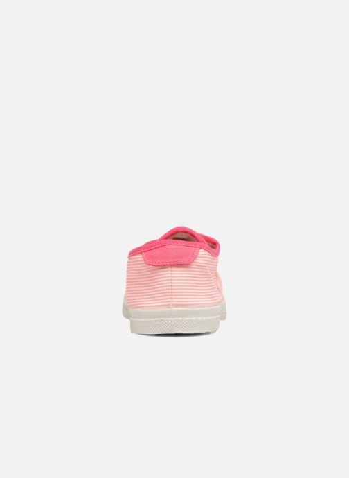 Sneakers Bensimon Fines Rayures Rosa immagine destra