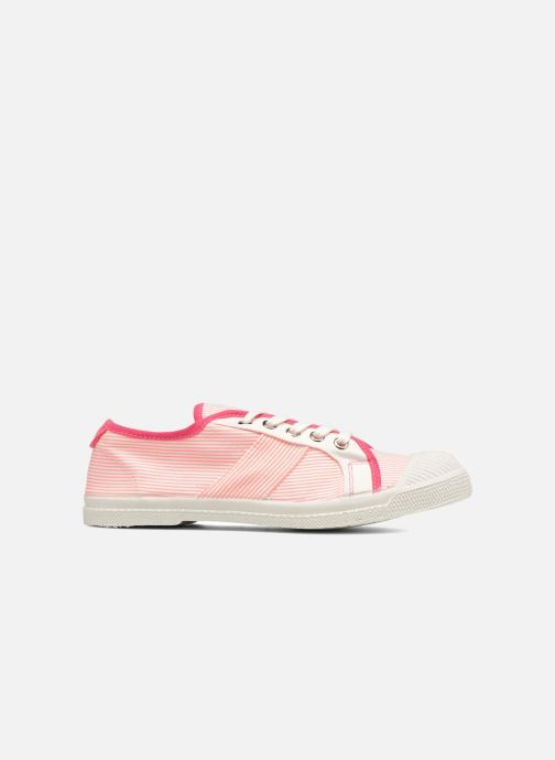 Trainers Bensimon Fines Rayures Pink back view