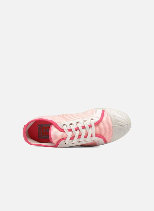 Trainers Bensimon Fines Rayures Pink view from the left