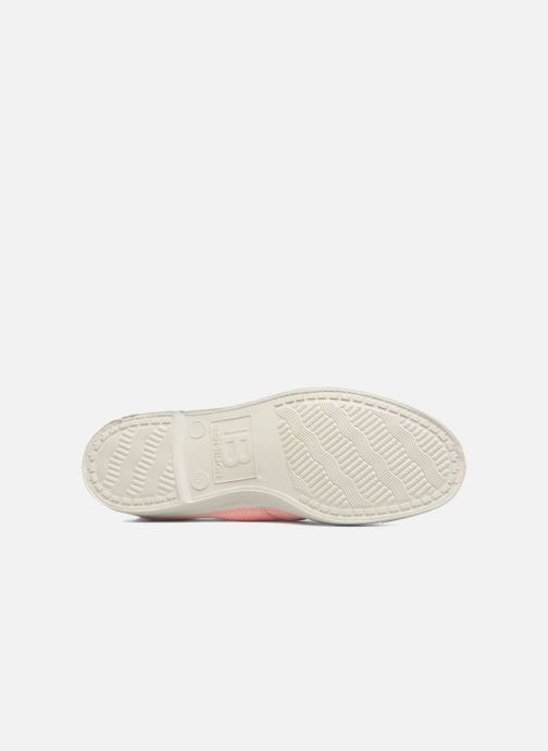 Trainers Bensimon Fines Rayures Pink view from above