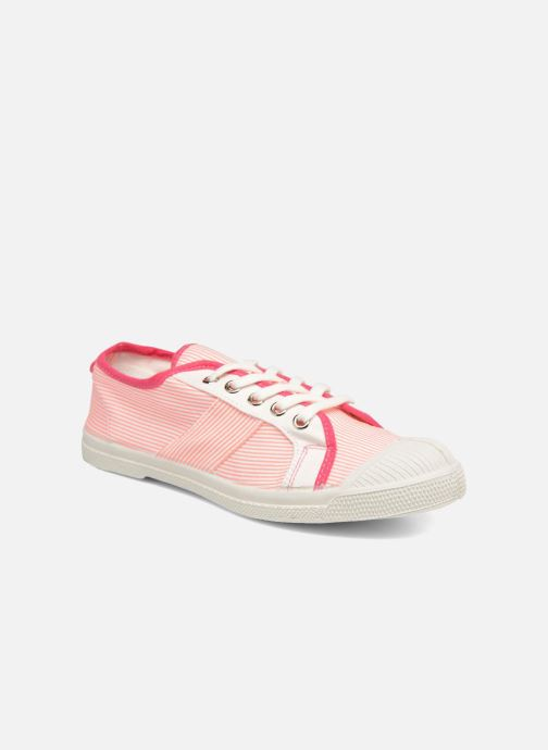 Trainers Bensimon Fines Rayures Pink detailed view/ Pair view