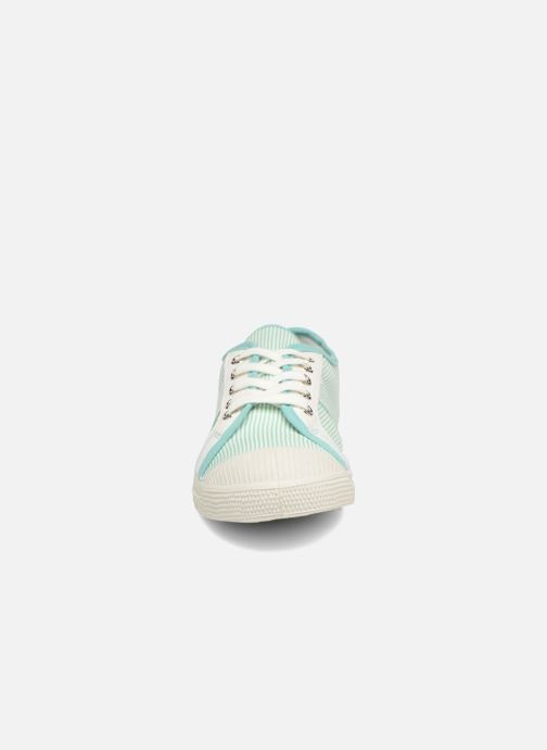 Trainers Bensimon Fines Rayures Green model view