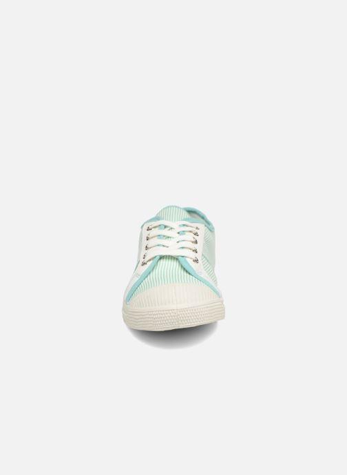 Baskets Bensimon Fines Rayures Vert vue portées chaussures