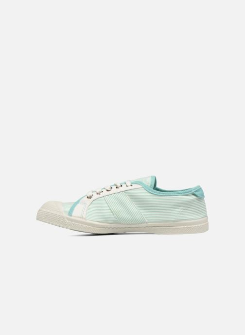 Trainers Bensimon Fines Rayures Green front view