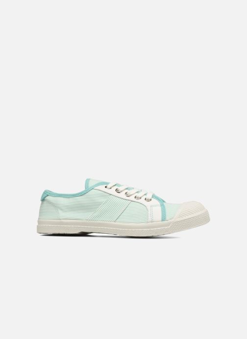 Trainers Bensimon Fines Rayures Green back view