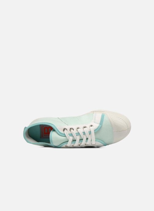 Trainers Bensimon Fines Rayures Green view from the left