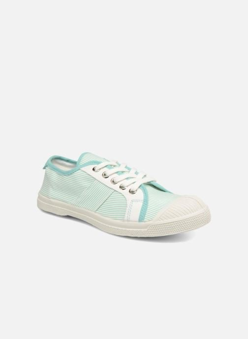 Trainers Bensimon Fines Rayures Green detailed view/ Pair view