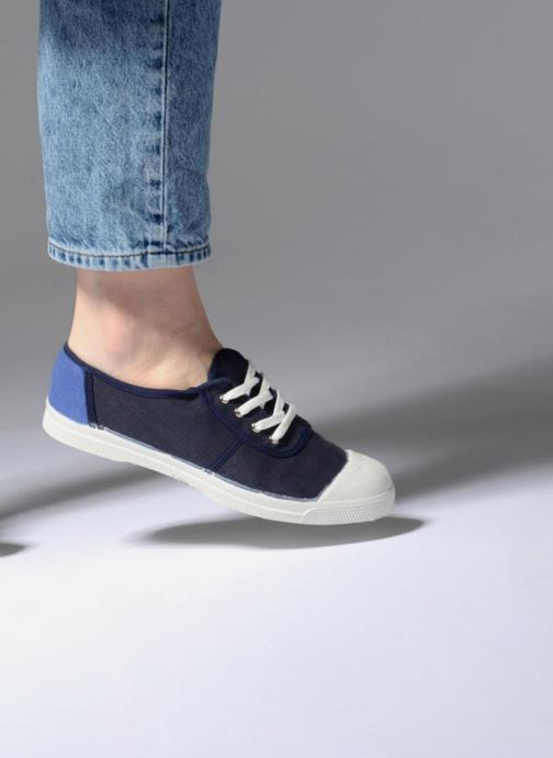 Trainers Bensimon Linenoldies Blue view from underneath / model view