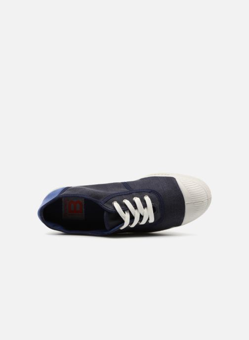 Trainers Bensimon Linenoldies Blue view from the left