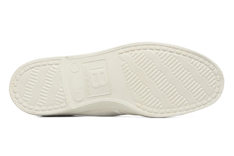 Baskets Bensimon Linenoldies Blanc vue haut