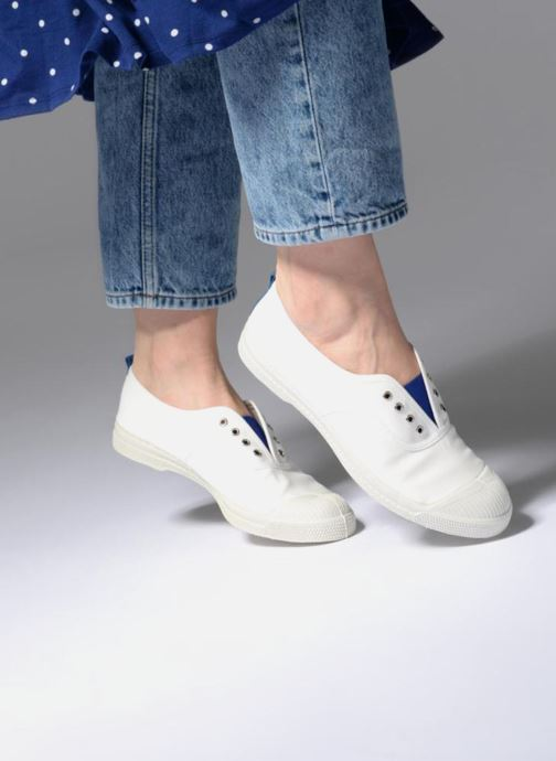 Trainers Bensimon Whity White view from underneath / model view