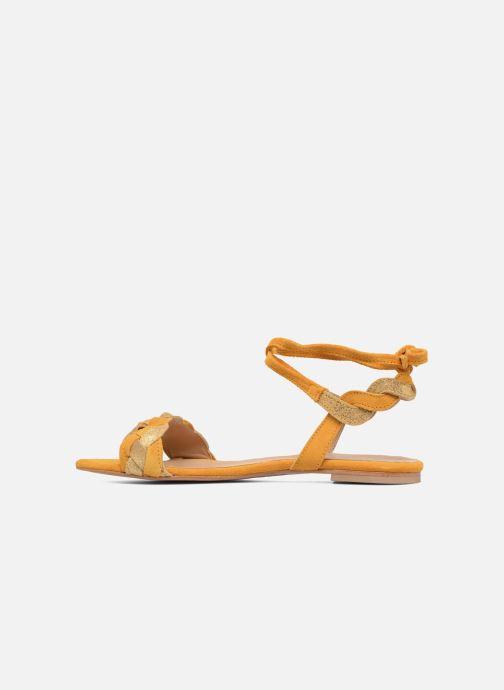 Sandales et nu-pieds Bensimon Plagettes Tressées Jaune vue face