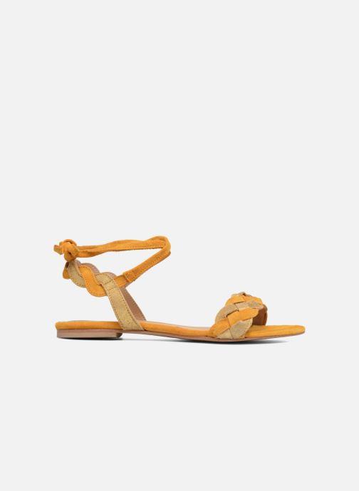 Sandales et nu-pieds Bensimon Plagettes Tressées Jaune vue derrière