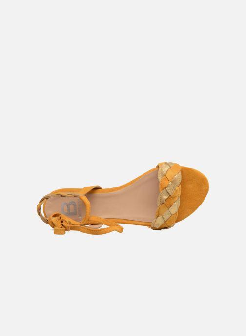Sandales et nu-pieds Bensimon Plagettes Tressées Jaune vue gauche
