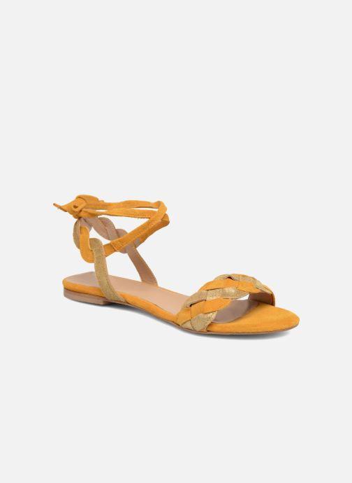 Sandales et nu-pieds Bensimon Plagettes Tressées Jaune vue détail/paire