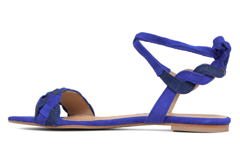 Sandals Bensimon Plagettes Tressées Blue front view