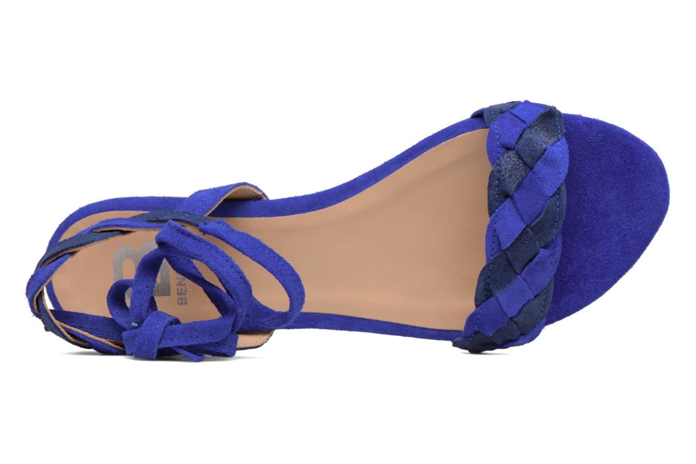 Sandals Bensimon Plagettes Tressées Blue view from above