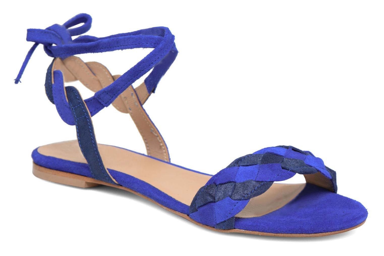 Sandals Bensimon Plagettes Tressées Blue detailed view/ Pair view