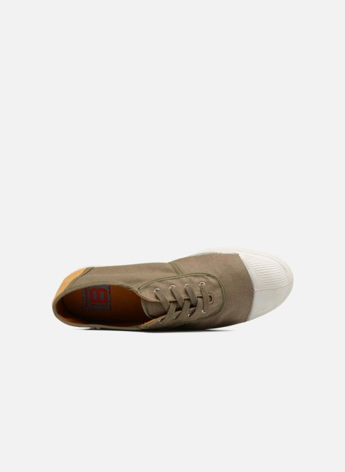 Trainers Bensimon Linenoldies Green view from the left