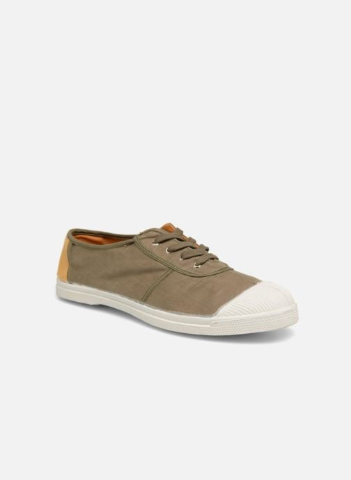 Trainers Bensimon Linenoldies Green detailed view/ Pair view