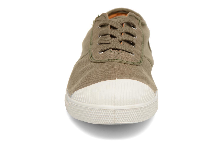 Baskets Bensimon Linenoldies Vert vue portées chaussures
