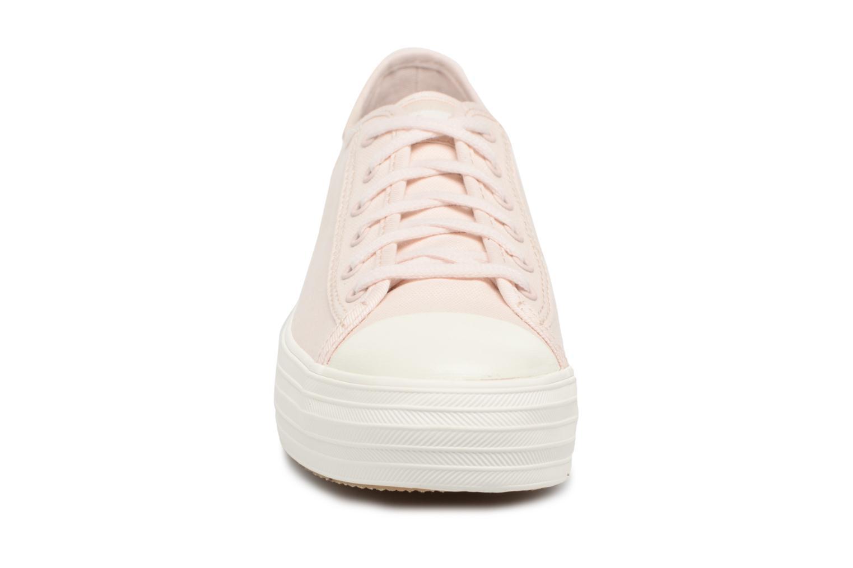Baskets Keds Triple Kick Colorblock Rose vue portées chaussures