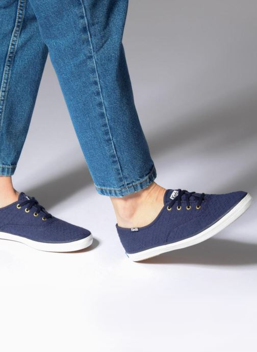 bee2b542fb7ff Trainers Keds Champion Dot Eyelet Blue view from underneath   model view