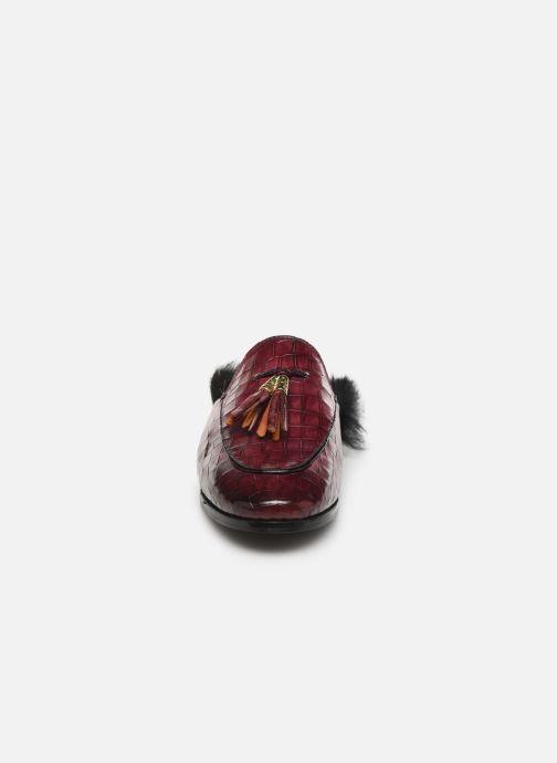 Mules et sabots Melvin & Hamilton Scarlett 2 Bordeaux vue portées chaussures