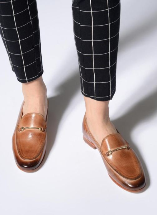 Loafers Melvin & Hamilton Scarlett 1 Brown view from underneath / model view