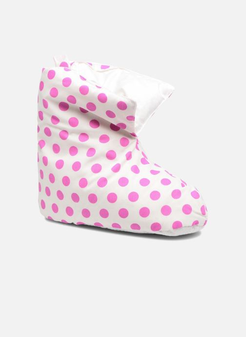 Slippers Sarenza Wear Chaussons Coconning Couette Fille Rose poids White detailed view/ Pair view