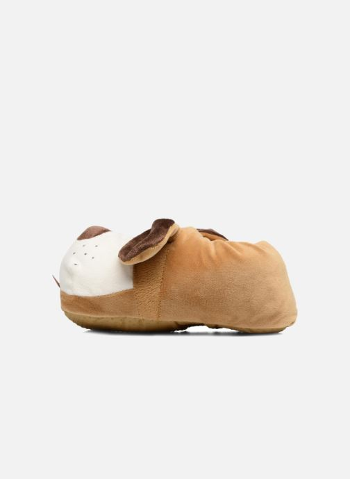 Slippers Sarenza Wear Chaussons Enfant Chien Brown front view