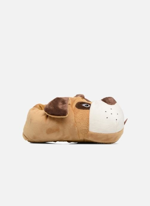 Slippers Sarenza Wear Chaussons Enfant Chien Brown back view
