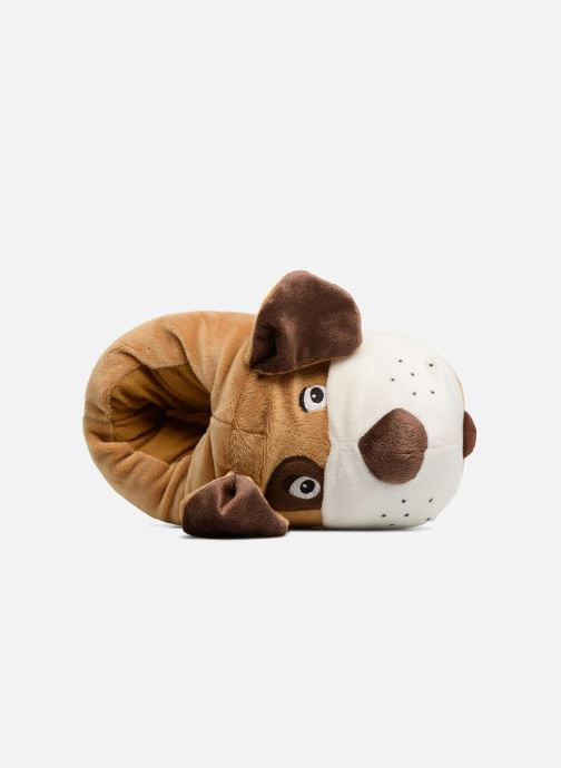 Slippers Sarenza Wear Chaussons Enfant Chien Brown view from the left