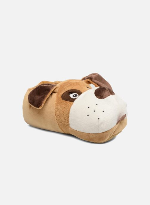 Slippers Sarenza Wear Chaussons Enfant Chien Brown detailed view/ Pair view