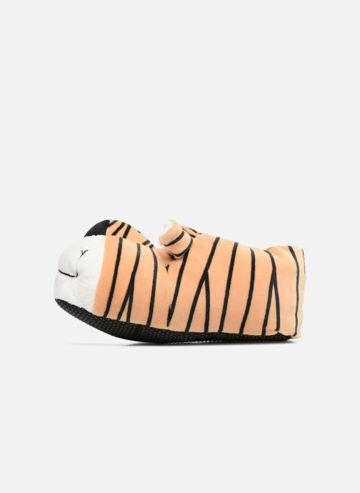 Slippers Sarenza Wear Chaussons Enfant Tigre Brown front view