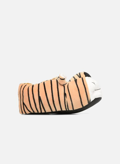 Slippers Sarenza Wear Chaussons Enfant Tigre Brown back view