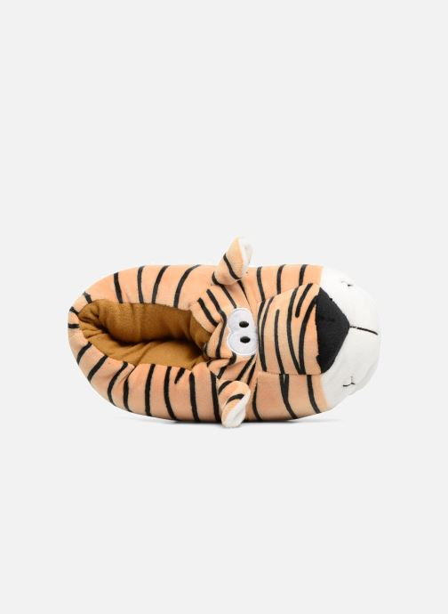 Slippers Sarenza Wear Chaussons Enfant Tigre Brown view from the left