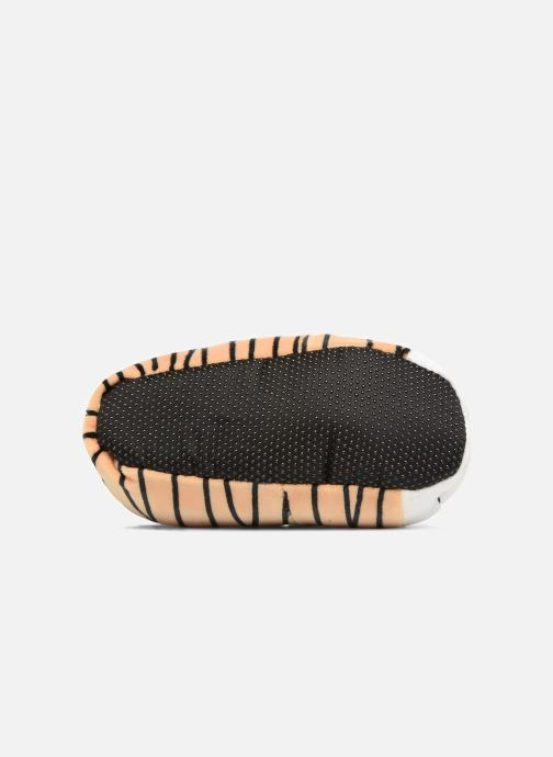Slippers Sarenza Wear Chaussons Enfant Tigre Brown view from above