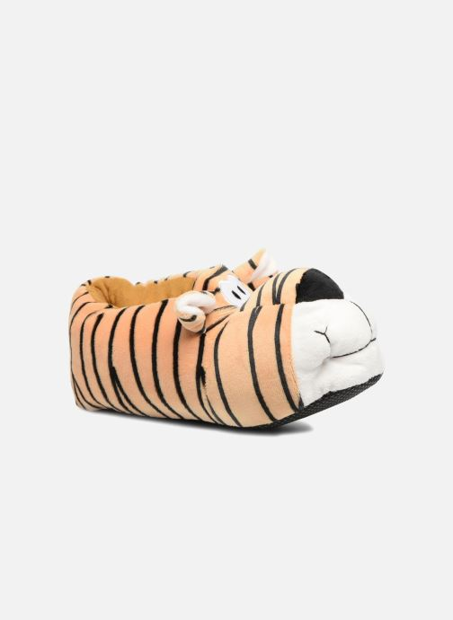 Slippers Sarenza Wear Chaussons Enfant Tigre Brown detailed view/ Pair view