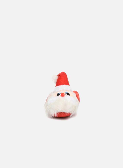 Slippers Sarenza Wear Chaussons Enfant Père Noël Red model view