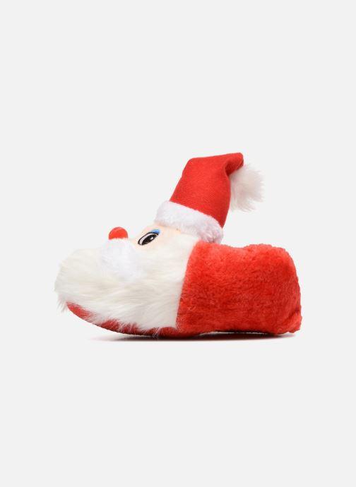 Slippers Sarenza Wear Chaussons Enfant Père Noël Red front view