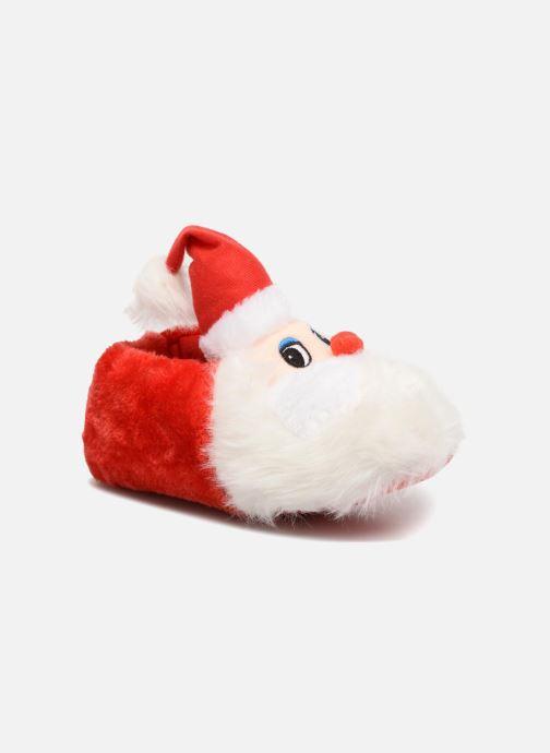 Chaussons Sarenza Wear Chaussons Femme Père Noël Rouge vue détail/paire