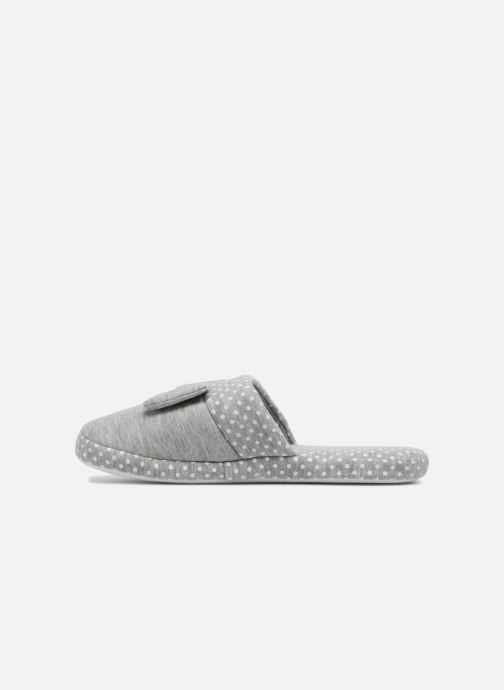 Slippers Sarenza Wear Chaussons Femme Nœuds & Poids Grey front view