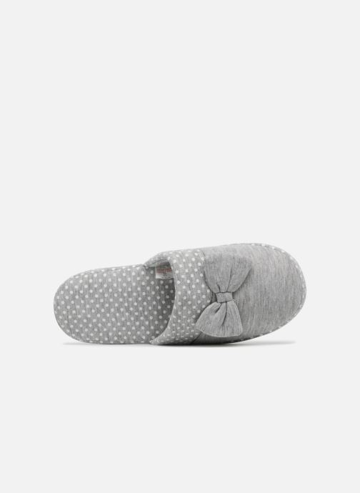 Slippers Sarenza Wear Chaussons Femme Nœuds & Poids Grey view from the left