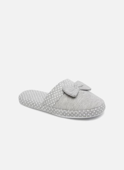 Slippers Sarenza Wear Chaussons Femme Nœuds & Poids Grey detailed view/ Pair view