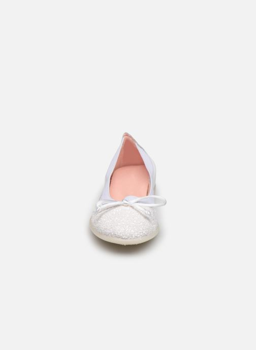 Ballerines Gioseppo Serena Blanc vue portées chaussures