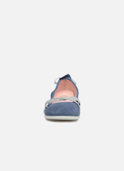 Ballerines Gioseppo Raquel Bleu vue portées chaussures